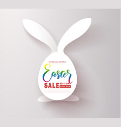 Happy easter sale bannerbackground with cut out vector