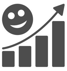happy growing trend flat icon vector image