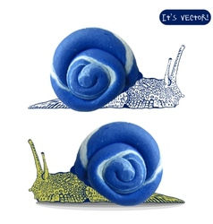 Icon of plasticine snail vector