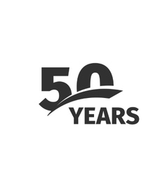 Isolated abstract black 50th anniversary logo on vector