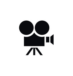 isolated camera icon production element vector image