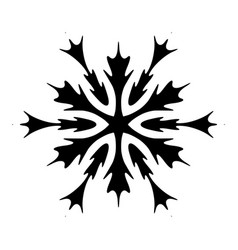 isolated simple snowflake vector image