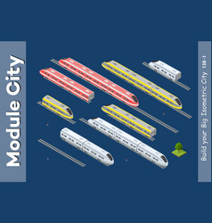 isometric 3d transport vector image