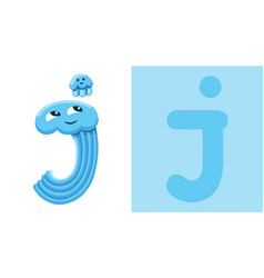 J is for jellyfish letter j jellyfish cute vector