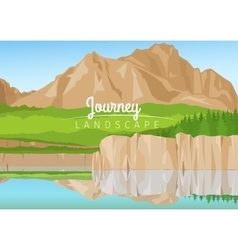 Journey landscape with mountains background vector