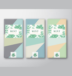 Menthol chocolate abstract packaging design vector