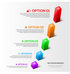 Modern 3D charts infographic vector