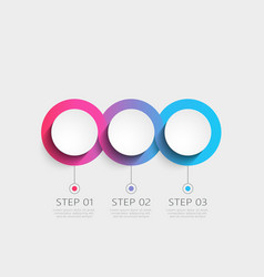 modern 3d infographic template with 3 steps vector image