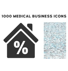 Mortgage Discount Icon with 1000 Medical Business vector image