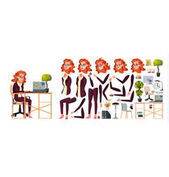 office worker woman businessman human vector image
