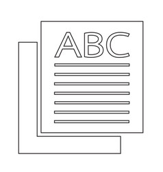 page icon sign vector image