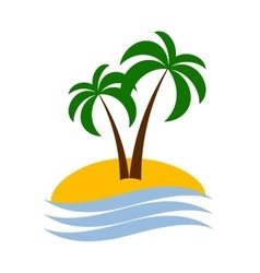Palm logo isolated vector