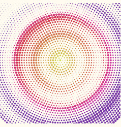 radial halftone pattern from colored dots retro vector image