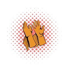 Rancher gloves icon comics style vector