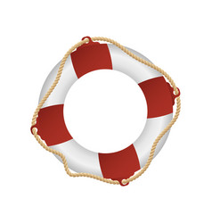 rescue life buoy isolated cartoon design drowning vector image