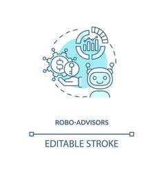 Robo-advisors concept icon vector