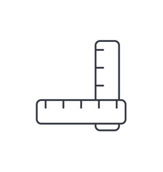 ruler thin line icon linear symbol vector image