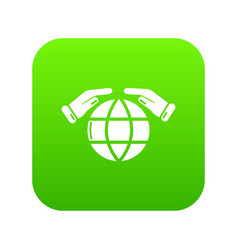 safe planet icon green vector image