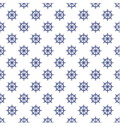 seamless pattern marine elements on a white vector image