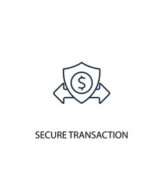 secure transaction concept line icon simple vector image