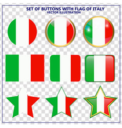 set of banners with flag of italy vector image