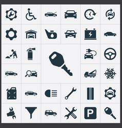 Set of simple vehicle icons vector