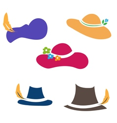 sets of hats vector image