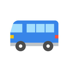 simple van transportation icon flat design vector image