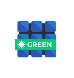 Solar panel flat icon vector