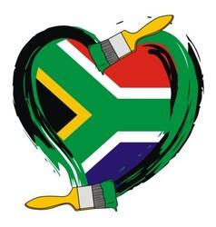 South Africa grunge flag vector