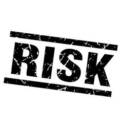 Square grunge black risk stamp vector