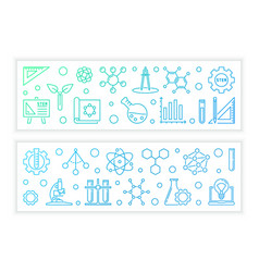 stem concept colorful banners in outline vector image