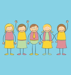 Stick figure Family vector