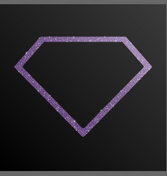 The diamond banner sequin background jewelry frame vector