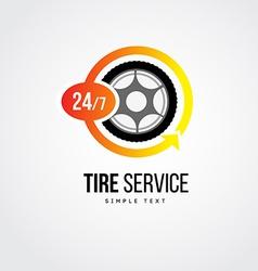 tire service logo vector image
