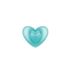 valentines day blue heart icon vector image