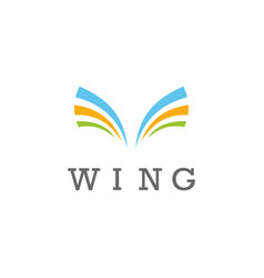 wing stripe logo vector image