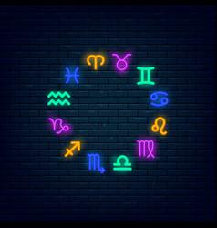 Zodiac symbols icon set vector