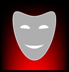 comedy theatrical masks vector image