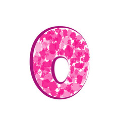 english pink letter o on a white background vector image