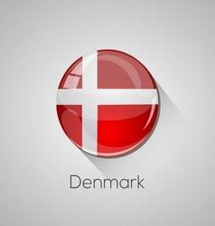 European flags set - Denmark vector image vector image