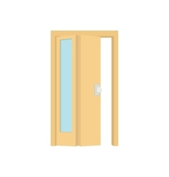Opened door icon cartoon style vector image vector image