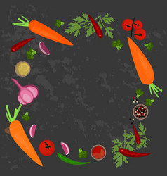 banner of raw food vector image vector image
