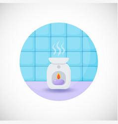 oil burner flat icon vector image