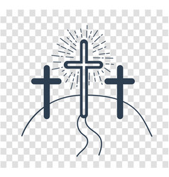 silhouette concept of the crucifixion vector image vector image