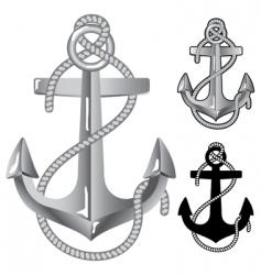 silver anchor vector image vector image
