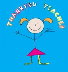 thank you teacher vector image vector image