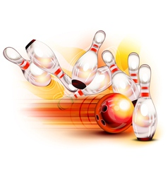 bowling side red vector image