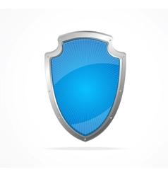 Empty metal shield blue vector image