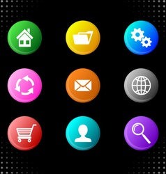 Round website icons vector image